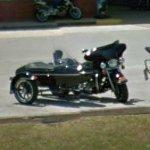 Harley with sidecar (StreetView)