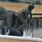 """Mario Lemieux statue """"Le Magnifique"""" by Bruce Wolfe (StreetView)"""