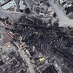 Lac-Mégantic derailment site (Google Maps)