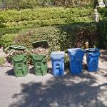 Garbage Day at Barbra Streisand's House (StreetView)