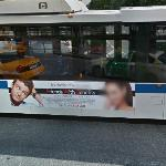 Justin Timberlake & Mila Kunis (and Google Car Reflection) (StreetView)