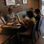People reading Menus (StreetView)