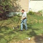 Man Cutting the grass (StreetView)