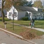 Man with A Leafblower (StreetView)