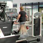 Lady on a treadmill (StreetView)