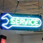 Neon Service Sign