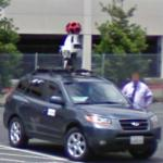Google car and driver (StreetView)