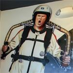 Will Ferrell wearing a jet pack