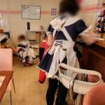 Waitresses in costume (StreetView)