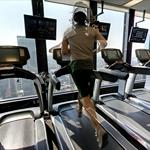 Person on a treadmill (StreetView)