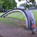 'Buried Bicycle' by Claes Oldenburg and Coosje van Bruggen (StreetView)