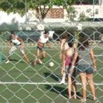 Playing football (StreetView)