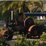 Steam-powered roller