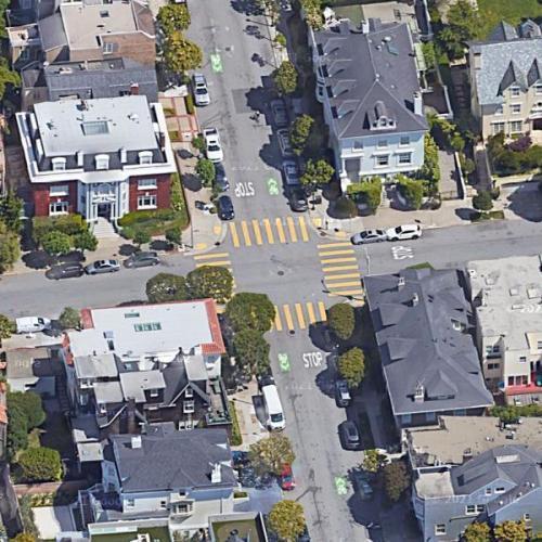 Zodiac Killer - Presidio Heights attack (Google Maps)