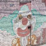 Clown graffiti (StreetView)