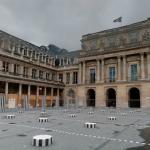 'Les Deux Plateaux' by Daniel Buren (StreetView)