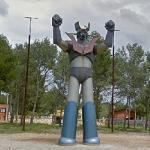Statue of Mazinger Z (StreetView)