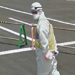 Guard near the Fukushima-1 nuclear plant