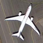 Boeing 787 - Ethiopian Airlines (Google Maps)