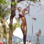 Mermaid with violin (StreetView)