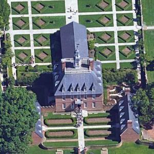 The Governor's Palace at Colonial Williamsburg (Google Maps)