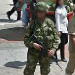 Colombian soldier (StreetView)