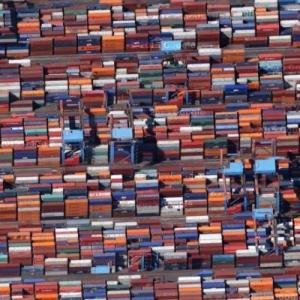 Shipping container mosaic (Google Maps)