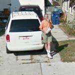 Man Eating Snacks (StreetView)