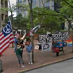 """Bring our troops home end the occupation"" sign (StreetView)"
