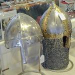 Medieval helmets (StreetView)