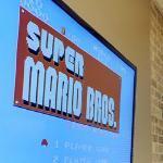 Super Mario Bros. on Flat Screen (StreetView)