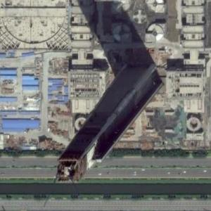 Goldin Finance 117 under construction (Google Maps)