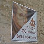 Junípero Serra sign (300th anniversary)