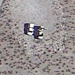 Mystery trucks in the desert (Google Maps)