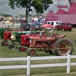 Old tractors on display (StreetView)