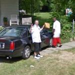 Man Startled By Google (StreetView)