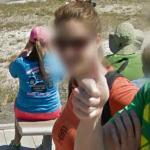 Thumbs Up at Old Faithful (StreetView)