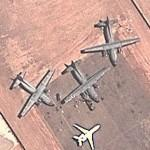 French Transall military plane in Bamako, Mali (Operation Serval) (Google Maps)