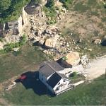 Garage Crushed by Boulder in Ohio (Google Maps)