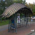 Braunschweiger Square Bus Stop by Frank Gehry (StreetView)