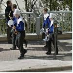 Band Members Carrying Instruments (StreetView)