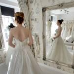 Wedding bride in her gown