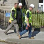 Men wearing hard hats (StreetView)