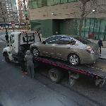 Car being towed (StreetView)