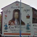 Mural of King William III (StreetView)