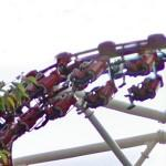 Roller coaster car with people in it (StreetView)