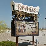 """Rawhide Western City"" sign"