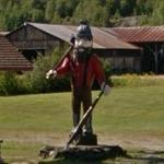 Big Lumberjack Carved From Tree (StreetView)
