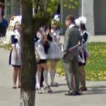 Graduation day in Blagoveshchensk (StreetView)