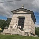 Bowman Mausoleum's Mourning Man (StreetView)